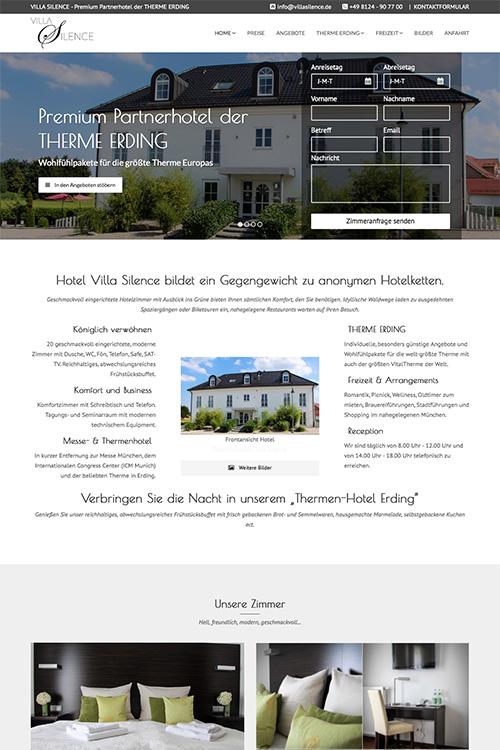Hotel Villa Silence, Webdesign & AdWords