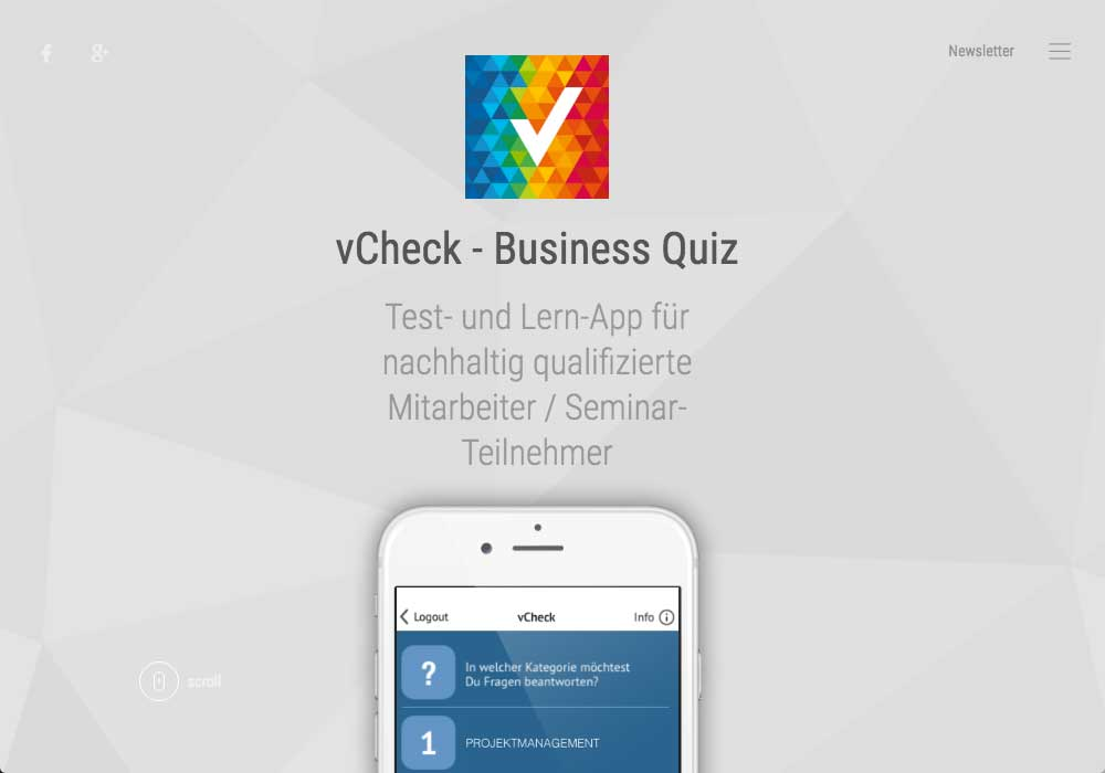 vCheck - White-Label-App, Business Quiz
